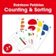 Edx Education-Rainbow Pebbles - counting and sorting cards